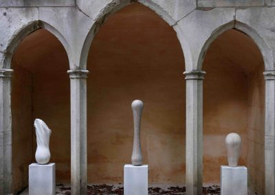 Triptych, Rococo Garden 2011 - stone carvings