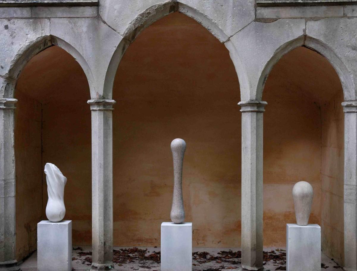 Triptych, Rococo Garden 2011 - stone carvings