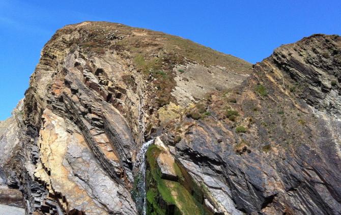 "Cliffs at ""Sandymouth"" near Bude, 11.04.2013"