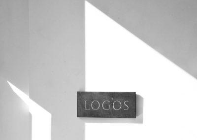 Logos, slate letter carving, 15cm x 30cm, 2015