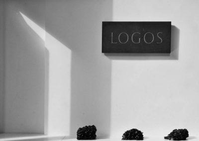 Exhibition: Anchor - 2015 - Logos - slate and wax 20cm x 40cm