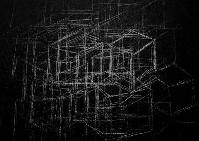 Hüpfkästchen, graphite drawing 2017