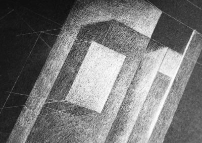 Tardis, graphite drawing 2017
