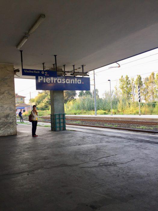 leaving Pietrasanta