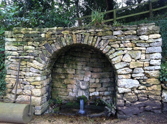 Fountain by plunge pool, Rococo Garden