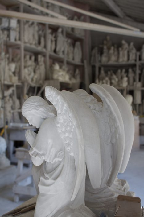 Angels in Christian Lange's workshop