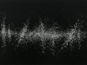Sound- 4-Graphite drawing on black paper