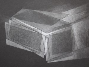 Light Architecture- 5-Graphite Drawing on Black Paper