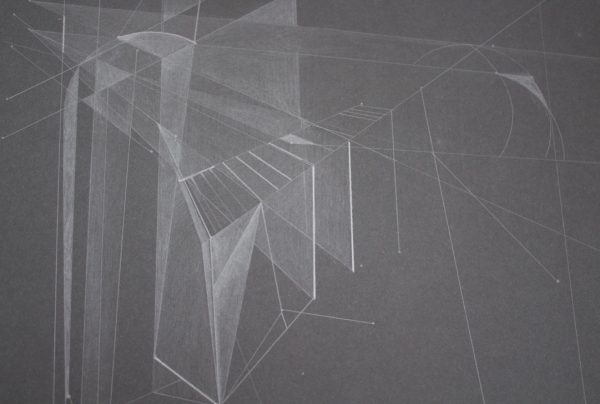Light Architecture - 2-Graphite Drawing on Black Paper