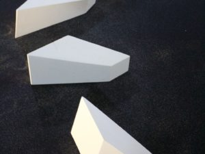 Lumen- sculptural installation, limestone and volcanic sand