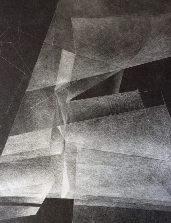 Light Architecture- 4-Graphite Drawing on Black Paper