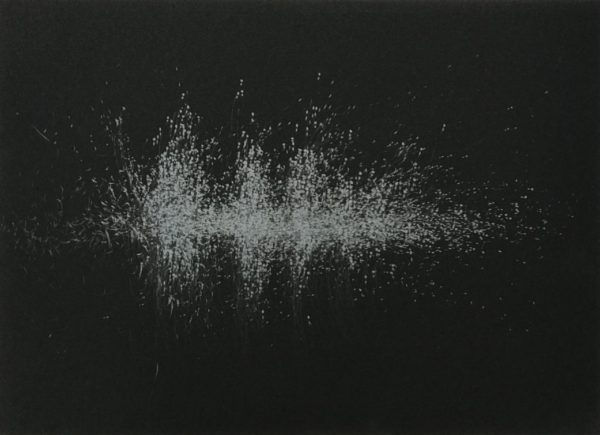Sound- 5-Graphite drawing on black paper