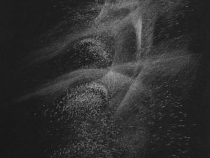 Light Form- 13-Graphite drawing on black paper