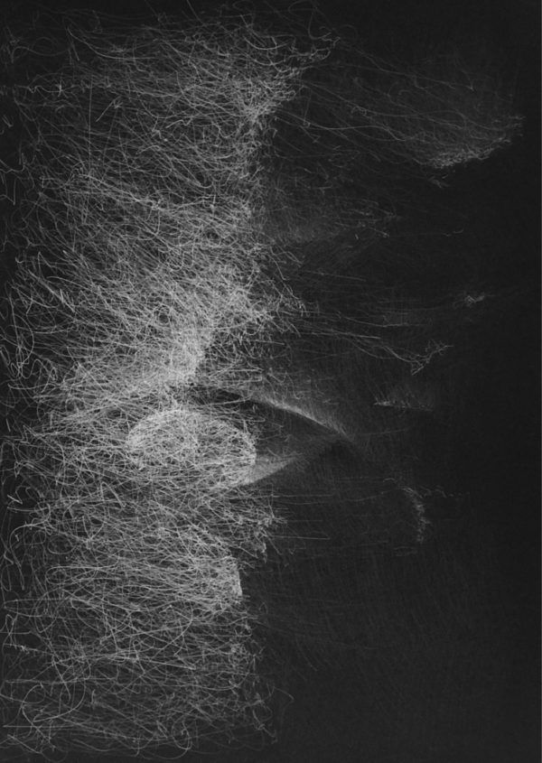 Light Form- 6-Graphite drawing on black paper